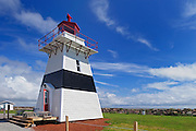 Big Tignish or Jude's Point Lighthouse - restored and relocated to a park nearby<br /> Tignish Shores<br /> Prince Edward Island<br /> Canada