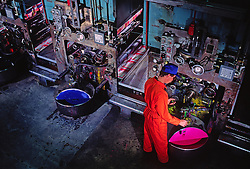 Printing Plant Inks, Operator, Paper Mill