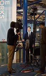 Rt Hon George Osborne MP, Chancellor of the Exchequer giving TV interviews during the Conservative Party Conference, ICC, Birmingham, Great Britain, October 8, 2012. Photo by Elliott Franks / i-Images.