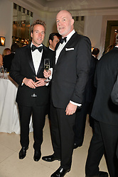 Left to right, BEN FOGLE and PADDY HARVERSON at the Tusk Friends Dinner in aid of wildlife charity Tusk held at Claridge's, Brook Street, London on 11th March 2014.