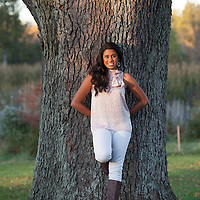Senior photos of Nivetha at the Matthaei Botanical Gardens in Ann Arbor, Michigan. Photos by Melanie Maxwell