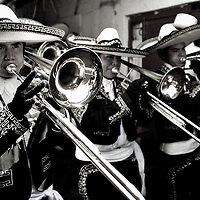 "150 ""Mariachis"" band,  during the inaguration parade, of one of the Oldest Bullfigthing carnavial in latin America.  Every year since 1831 the people of Autlan, in the south west of Mexico celebrates a festivities before  the begining of the Easter."