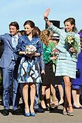 Koninginnedag 2012 in de Utrechtse gemeente Rhenen.// Queensday 2012 in the city of Rhenen.<br /> <br /> Op de foto: Prinses Aim&eacute;e , Prins Maurits en Prinses Maril&egrave;ne