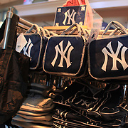 Yankee merchandise for sale at the Yankees store at Yankee Stadium, The Bronx, during the New York Yankees V Detroit Tigers Baseball game at Yankee Stadium, The Bronx, New York. 28th April 2012. Photo Tim Clayton