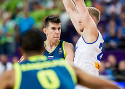 Vlatko Cancar of Slovenia vs Haukur Palsson of Iceland during basketball match between National Teams of Iceland and Slovenia at Day 6 of the FIBA EuroBasket 2017 at Hartwall Arena in Helsinki, Finland on September 5, 2017. Photo by Vid Ponikvar / Sportida