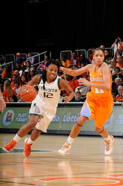 2013 Miami Hurricanes Women's Basketball vs Tennessee