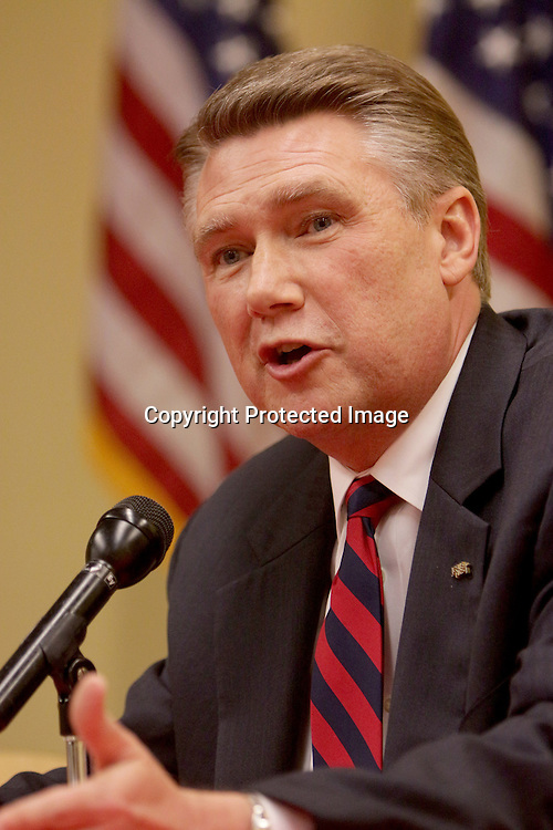 Candidate for U.S. Senate Mark Harris speaks during The Lower Cape Fear Republican Women's Club Candidates' Forum Tuesday April 15, 2014 at the Northeast Regional branch of the New Hanover County Library. The forum allowed speeches by candidates for the offices of District Court Judge, 9th District NC Senate, 7th Congressional District, and US Senate. (Jason A. Frizzelle)