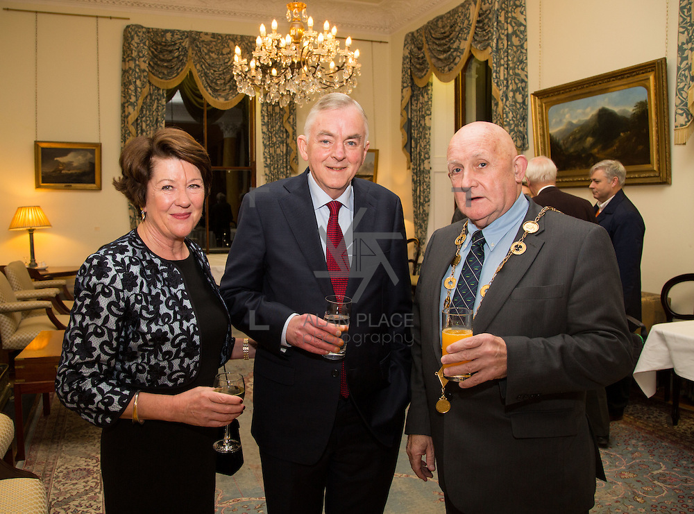22.11.2016                   <br /> University of Limerick (UL) hosted a gala concert celebrating the music of renowned composer M&iacute;che&aacute;l &Oacute; S&uacute;illeabh&aacute;in.<br /> <br /> Pictured at a special reception before the concert were, Anna and Prof. Don Barry, President UL and Mayor of Limerick City and County, Cllr. Kieran O'Hanlon.<br /> <br /> <br /> The RT&Eacute; Concert Orchestra, conducted by David Brophy, performed with M&iacute;che&aacute;l and a selection of special guests in University Concert Hall Limerick. Picture: Alan Place