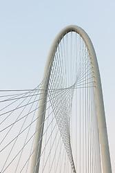 Margaret Hunt Hill Bridge over the Trinity River, Dallas, Texas, USA.