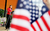 Sarah Palin speaks at a Tea Party Express rally in Manchester, N.H.