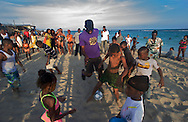 Usain Bolt on Hellshire Beach, Kingston, Jamaica 2010