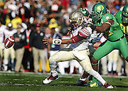 Florida State and Oregon face off on Thursday January 1, 2015 at the College Football Playoff Semifinal at 101st Rose Bowl in Pasadena, Calif. (Photo by Michael Yanow)