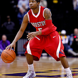 November 30, 2010; Baton Rouge, LA, USA; Houston Cougars guard Nick Haywood (5) during a game against the LSU Tigers at the Pete Maravich Assembly Center. LSU defeated Houston 73-57. Mandatory Credit: Derick E. Hingle