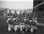 18/3/1953<br /> 3/18/1953<br /> 18 March 1953 <br /> Soccer, football: Limerick v Longford replay at Dalymount Park, Dublin. The  Limerick team.