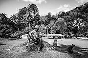 NOUVELLE CALEDONIE, HIENGHENE, Tribu de Cavatch - Kaavac - Portrait de Gregoire Badia VAHOU - Aire Coutumiere de Hoot Ma Waap - Aout 2013