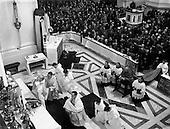 1952 - Franciscan Church, Merchant's Quay,  Gerald O'Hara, Papal Nuncio attending the Novena Mass