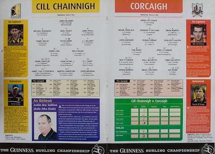 All Ireland Senior Hurling Championship Final,.12.09.2004, 09.12.2004, 12th September 2004,.Senior Cork 0-7, Kilkenny 0-9,.Minor Kilkenny 1-18 ,  Galway 3-12 (draw),.12092004AISHCF,..Kilkenny, 1 James McGarry, Bennetsbridge, 2 Michael Kavanagh, St Lachtains, 3 Noel Hickey, Dunnamaggin, 4 James Ryall, Graig Ballycallan, 5 Tommy Walsh, Tullaroan, 6 Peter Barry, James Stephens, 7 JJ Delaney, Fenians, 8 Derek Lyng, Emeralds, 9 Ken Coogan, Tullaroan, 10 Henry Shefflin, Ballyhale Shamrocks, 11 John Hoyne, Graig Ballycallan, 12 DJ Carey, Young Irelands, 13 James Cha Fitzpatrick, 14 Martin Comerford, O'Loughlin Gaels, 15 Eddie Brennan, Graig Ballycallan, ..Cork, 1 Donal Og Cusack, Cloyne, 2 Wayne Sherlock, Blackrock, 3 Diarmuid O'Sullivan, Cloyne, 4 Brian Murphy, Bride Rovers, 5 John Gardiner, Na Piarsaigh, 6 Ronan Curran, St Finbarrs, 7 Sean Og O hAilpin, Na Piarsaigh, 8 Tom Kenny, Grenagh, 9 Jerry O'Connor, Newownshandrum, 10 Ben O'Connor, Newtownshandrum, 11 Niall McCarthy, 12 Timmy McCarthy, Castlelyons, 13 Kieran Murphy, Sarsfields, 14 Brian Corcoran, Erin's Own, 15 Joe Deane, Killeagh,
