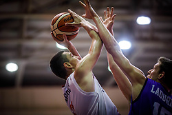 Langovic  Aleksandar of Serbia during basketball match between National teams of Serbia and Italy in the 9th place Classifications of FIBA U18 European Championship 2019, on August 4, 2019 in Portaria Hall, Volos, Greece. Photo by Vid Ponikvar / Sportida