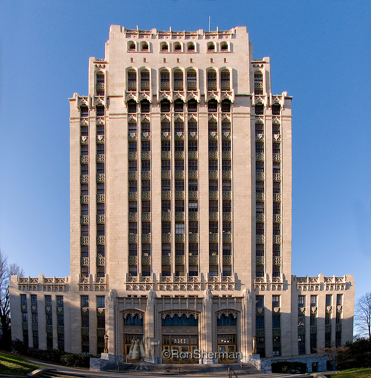 The Atlanta City Hall building is the headquarters of the City of Atlanta government. It was constructed in 1930, and is located in Downtown Atlanta. It is surrounded by skyscrapers and very similar to dozens of other city halls built in the United States during the same time period. Located in South Downtown, it is near other governmental structures, such as the Georgia State Capitol and the Fulton County Courthouse. The Neo-Gothic structure features many architectural details that have helped to make the building a historical landmark. It is Atlanta's fourth city hall..