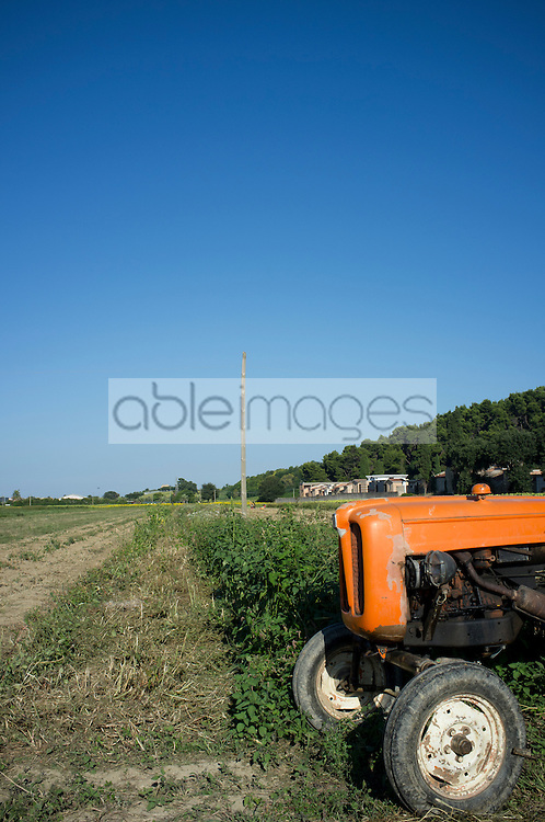 Tractor Parked on Field
