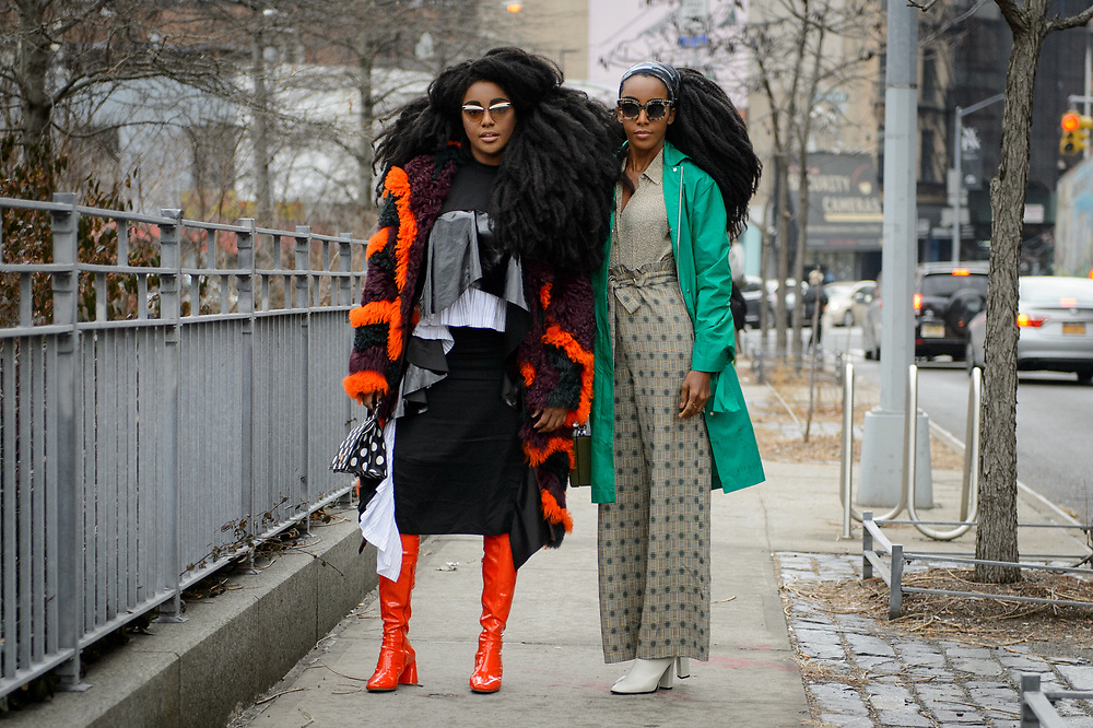 TK Wonder and Cipriana Quann at Dion Lee FW2018