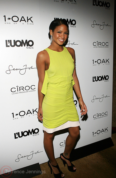 "Cassie pictured at the cocktail party celebrating Sean ""Diddy"" Combs appearance on the "" Black on Black "" cover of L'Uomo Vogue's October Music Issue"