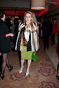 JOANNE HYNES, London Lifestyle Awards. Riverbank Park Plaza. London.6 October 2011. <br /> <br />  , -DO NOT ARCHIVE-© Copyright Photograph by Dafydd Jones. 248 Clapham Rd. London SW9 0PZ. Tel 0207 820 0771. www.dafjones.com.