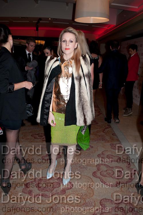 JOANNE HYNES, London Lifestyle Awards. Riverbank Park Plaza. London.6 October 2011. <br /> <br />  , -DO NOT ARCHIVE-&copy; Copyright Photograph by Dafydd Jones. 248 Clapham Rd. London SW9 0PZ. Tel 0207 820 0771. www.dafjones.com.