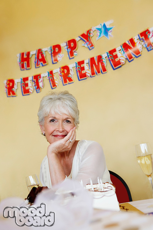 Woman at a Retirement Party