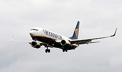 © Licensed to London News Pictures. 31/10/12 Airline Ryanair is to expand its operations and create an estimated 1000 jobs at airports in Liverpool, Manchester and the East Midlands. File picture dated General Views of Ryanair aircraft. Ryanair announces its financial results for the first half of the financial year to 30 September