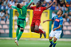 NAPLES, ITALY - Wednesday, October 3, 2018: Liverpool's Bobby Adekanye on his way to scoring the first goal during the UEFA Youth League Group C match between S.S.C. Napoli and Liverpool FC at Stadio Comunale di Frattamaggiore. (Pic by David Rawcliffe/Propaganda)