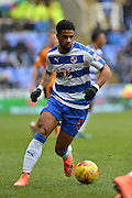 Reading FC striker Gareth McCleary takes the ball down the wing during the Sky Bet Championship match between Reading and Wolverhampton Wanderers at the Madejski Stadium, Reading, England on 6 February 2016. Photo by Mark Davies.