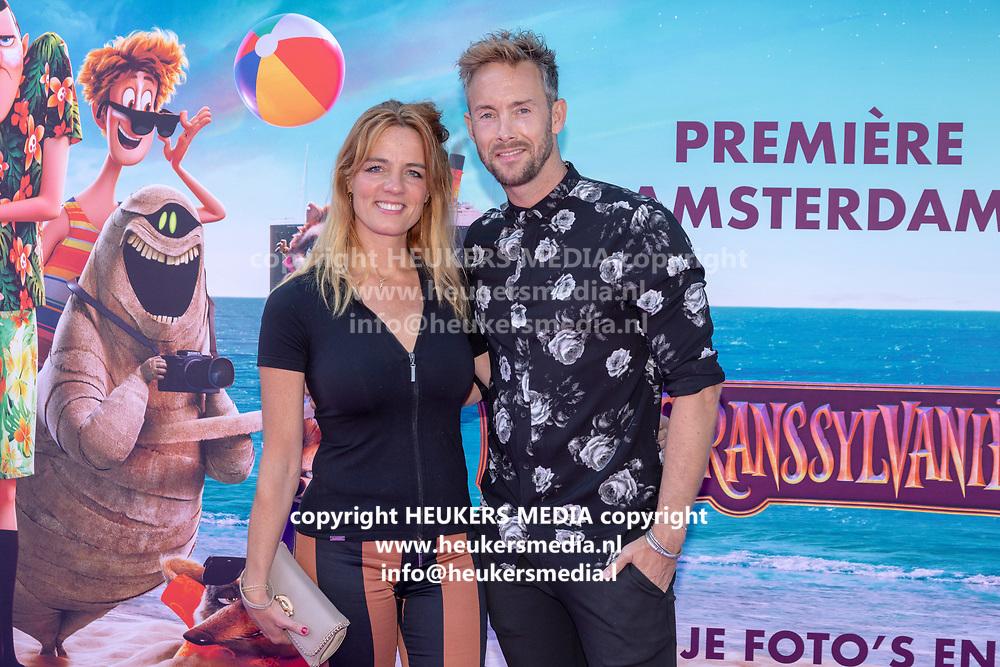2018, 15 Juli. Pathe ArenA, Amsterdam. Premiere van Hotel Transsylvanie 3. Op de foto: Ilse Warringa en Charlie Luske