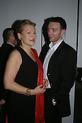 Georgia Oetker and Tom McKay. Almeida 25th Anniversay Gala. Gagosian Gallery, Brittania St. Kings Cross. London. 27 January 2005. ONE TIME USE ONLY - DO NOT ARCHIVE  © Copyright Photograph by Dafydd Jones 66 Stockwell Park Rd. London SW9 0DA Tel 020 7733 0108 www.dafjones.com