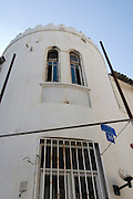Israel, Tel Aviv, Eclectic style building at 10 Mazeh street