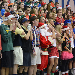 Staff photos by Tom Kelly IV<br /> Great Valley fans cheer during the game.<br /> Great Valley senior Mikal Bridges (25) scored his 1000th point Friday night December 20, 2013 in a home game against Archbishop Wood.
