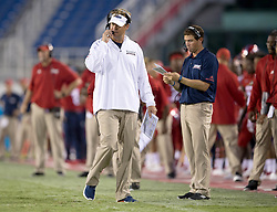 September 16, 2017 - Boca Raton, Florida, U.S. - Florida Atlantic Owls head coach Lane Kiffin in Boca Raton, Florida on September 16, 2017. (Credit Image: © Allen Eyestone/The Palm Beach Post via ZUMA Wire)