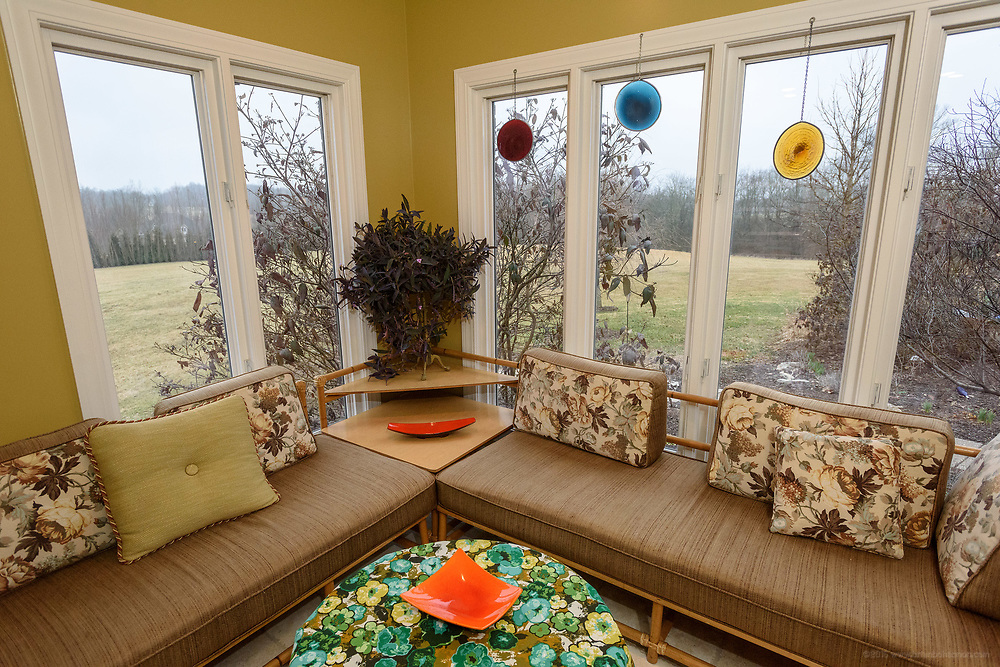 The sun room at the home of Kristen and David Embry in Pendleton, Ky. Feb. 22, 2018