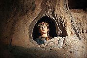 Palermo; santuario di Santa Rosalia nella grotta di monte Pellegrino.<br />