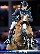 HONG KONG - FEBRUARY 21:  Philippe Rozier of France rides Quel Chanu during the Massimo Dutti Trophy as part of the 2016 Longines Masters of Hong Kong on February 21, 2016 in Hong Kong, Hong Kong.  (Photo by Aitor Alcalde Colomer/Getty Images)