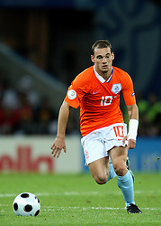 WESLEY SNEIJDER.HOLLAND  REAL MADRID.EURO 2008 HOLLAND V FRANCE.STADE DE SUISSE, BERNE, SWITZERLAND.13 June 2008.DIT78925..  .WARNING! This Photograph May Only Be Used For Newspaper And/Or Magazine Editorial Purposes..May Not Be Used For, Internet/Online Usage Nor For Publications Involving 1 player, 1 Club Or 1 Competition,.Without Written Authorisation From Football DataCo Ltd..For Any Queries, Please Contact Football DataCo Ltd on +44 (0) 207 864 9121