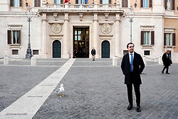 A new deputy of the Italian Parliamient pose outside the Chamber of Deputies during the first session of the XVIII legislature. Montecitorio, Rome 23 March 2018. Christian Mantuano / OneShot