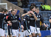 Alex Harris is congratulated by fellow new boy Kostadin Gadzhalov -  Dundee v Motherwell, SPFL Premiership at Dens Park <br /> <br /> <br />  - &copy; David Young - www.davidyoungphoto.co.uk - email: davidyoungphoto@gmail.com