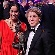 NLD/Den Haag/20111212 - NOC / NSF Sportgala 2011, Sportvrouw van het jaar 2011 zwemster Ranomi Kromowidjo, Sportman van het jaar turner Epke Zonderland