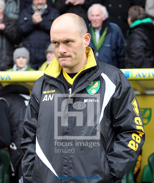 Norwich Manager Alex Neil before the Sky Bet Championship match at Carrow Road, Norwich<br /> Picture by Paul Chesterton/Focus Images Ltd +44 7904 640267<br /> 21/03/2015