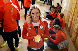 Alyssa Seely who won gold in the PT2 paratriathlon attends an event in the East Room to honor the 2016 U.S. Olympic and Paralympic teams participation and success in this year's Games in Rio in the White House on September 29, 2016 in Washington, DC. Photo by Olivier Douliery/abaca