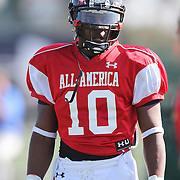 Quandre Diggs during the practice session at the Walt Disney Wide World of Sports Complex in preparation for the Under Armour All-America high school football game on December 3, 2011 in Lake Buena Vista, Florida. (AP Photo/Alex Menendez)