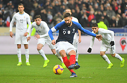 France's Olivier Giroud during France v Uruguay friendly football match at the Stade de France in Saint-Denis, suburb of Paris, France on November 20, 2018. France won 1-0. Photo by Christian Liewig/ABACAPRESS.COM
