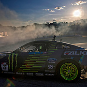 June 23, 2012:  Vaughn Gittin Jr. (25) in his Monster Energy Ford Mustang poses for an on track picture during  round four of the Formula Drift championship at Wall Speedway in Wall Township, New Jersey .   (Credit Image: © Kostas Lymperopoulos/Cal Sport Media)