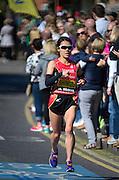 London. United Kingdom. 2014 London Marathon.  Narrow Street Limehouse, East London. Athletics 10:36:47  Sunday  13/04/2014  [Mandatory Credit; Peter SPURRIER/ Intersport Images],